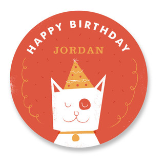 Birthday Party Animal Custom Stickers