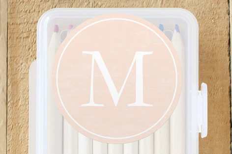 Classic Monogram Custom Stickers