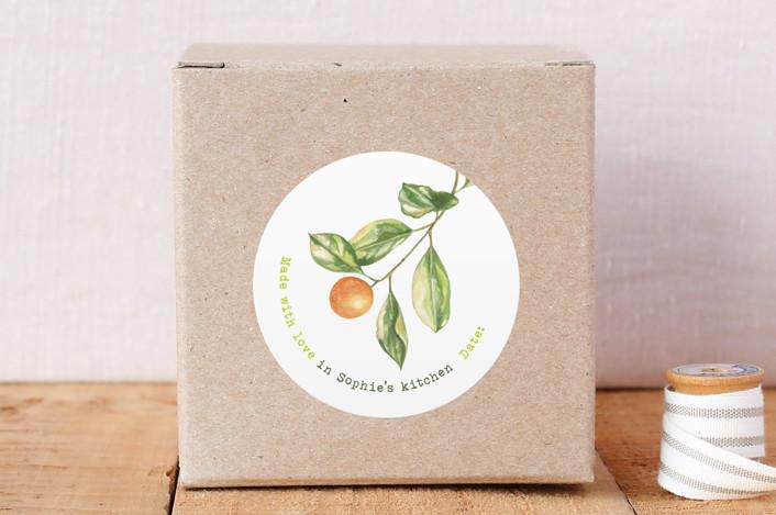 """Kumquat"" - Custom Stickers in Leaf by Ava Thomson."