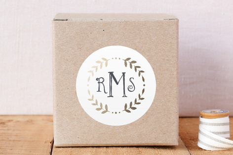 Glittered Monogram Custom Stickers