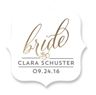 Golden Bride Custom Stickers