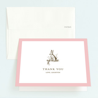 Classic Bunny Childrens Birthday Party Thank You Cards