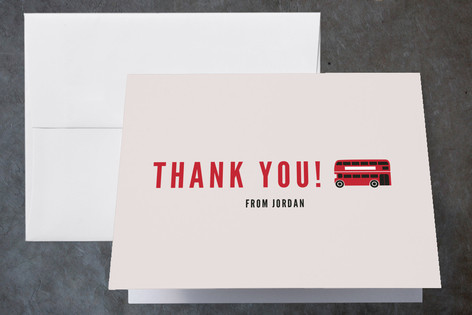London Calling Childrens Birthday Party Thank You Cards