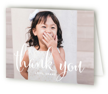 Aglow Children's Birthday Party Thank You Cards
