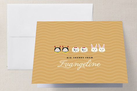 Slipper Buddies Childrens Birthday Party Thank You Cards