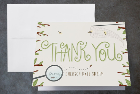 Little Adventurers Childrens Birthday Party Thank You Cards