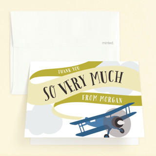 Banner Takeoff Childrens Birthday Party Thank You Cards