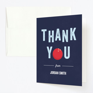 Bowling Birthday Party Childrens Birthday Party Thank You Cards