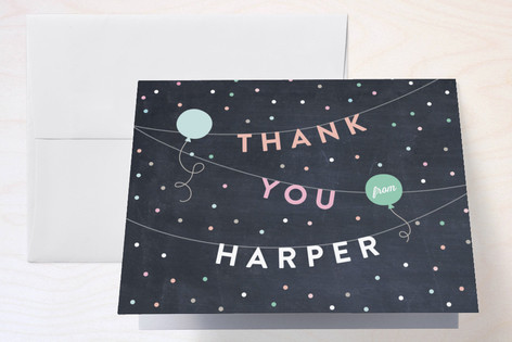 Bright Birthday Bunting Childrens Birthday Party Thank You Cards