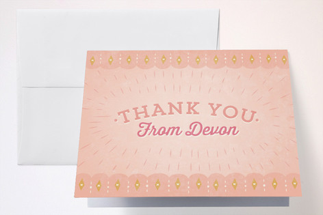 Pony Party Childrens Birthday Party Thank You Cards