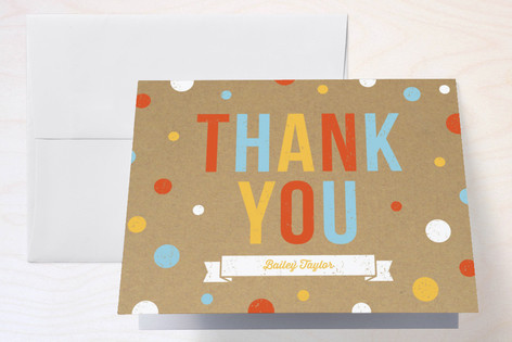 First Confetti Childrens Birthday Party Thank You Cards