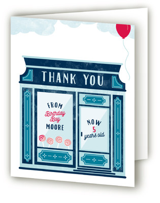 Candy Store Children's Birthday Party Thank You Cards