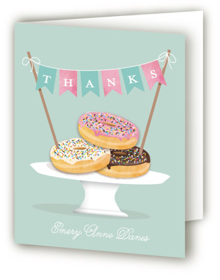 Everyone Loves Donuts Children's Birthday Party Thank You Cards