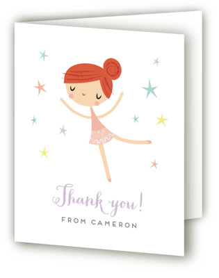 Tiny Dancer Children's Birthday Party Thank You Cards