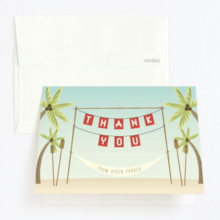 Beach Luau Childrens Birthday Party Thank You Cards