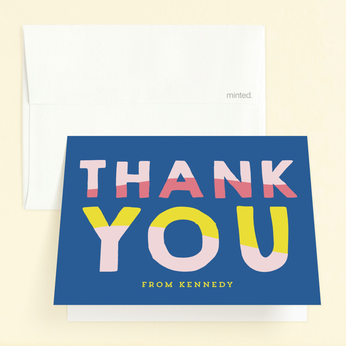 """""""Fun Sun"""" - Childrens Birthday Party Thank You Cards in Carribean by Baumbirdy."""