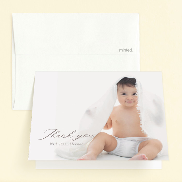 """""""Join in the fun!"""" - Childrens Birthday Party Thank You Cards in Cloud by Caitlin Considine."""