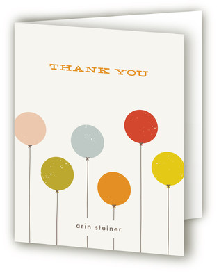 Colorful Balloons Children's Birthday Party Thank You Cards