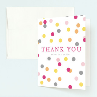 Confetti Fun Childrens Birthday Party Thank You Cards