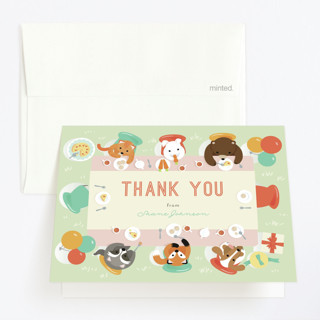 Party Table Childrens Birthday Party Thank You Cards