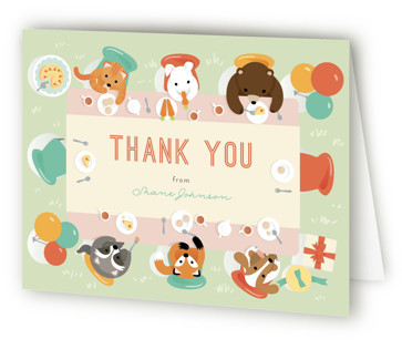 Party Table Children's Birthday Party Thank You Cards