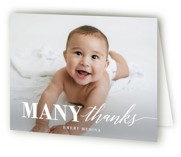 This is a white kids thank you card by Susan Asbill called Onederful with standard printing on strathmore in standard.
