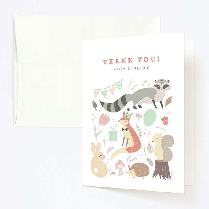 """""""tartletta"""" - Childrens Birthday Party Thank You Cards in Mint by chocomocacino."""