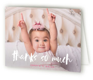 This is a pink kids thank you card by Susan Brown called Already with standard printing on strathmore in standard.