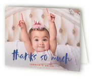 This is a blue kids thank you card by Susan Brown called Already with standard printing on strathmore in standard.