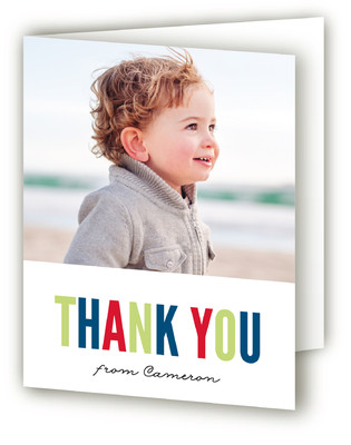 Carnival Stripes Children's Birthday Party Thank You Cards