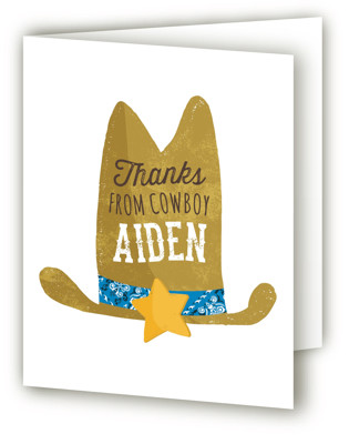Cowboy Children's Birthday Party Thank You Cards