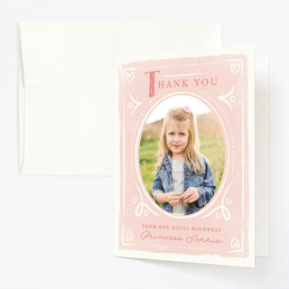 Fairytale Princess Childrens Birthday Party Thank You Cards