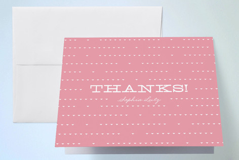Bright Chevron Childrens Birthday Party Thank You Cards