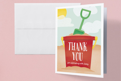 Hit the Beach Childrens Birthday Party Thank You Cards