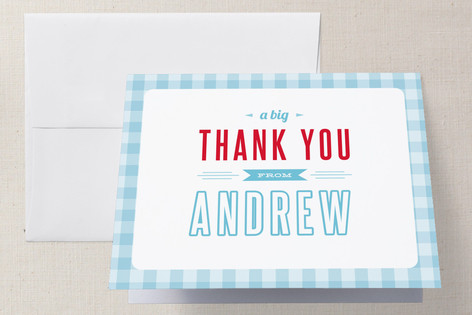 Americana Boy Childrens Birthday Party Thank You Cards