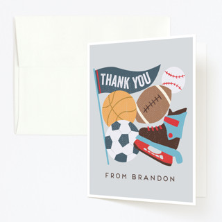 All Star Childrens Birthday Party Thank You Cards