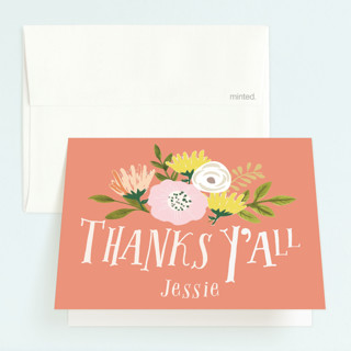 Howdy Childrens Birthday Party Thank You Cards