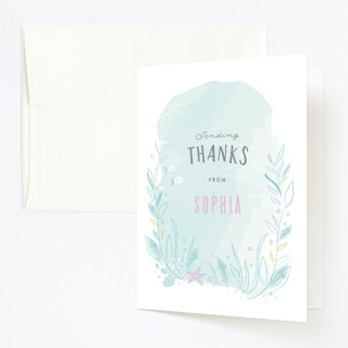 Under the Sea Childrens Birthday Party Thank You Cards