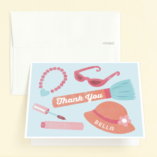 Dress Up Childrens Birthday Party Thank You Cards