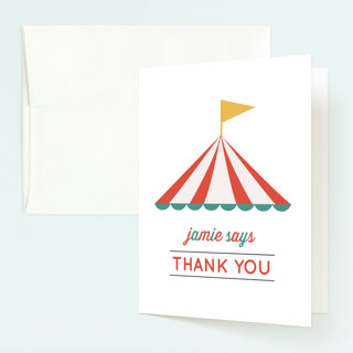 Theme Park Childrens Birthday Party Thank You Cards