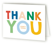 This is a colorful kids thank you card by Baumbirdy called This Guy with standard printing on strathmore in standard.