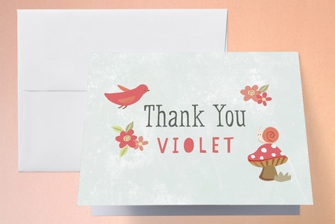 Foresta Childrens Birthday Party Thank You Cards