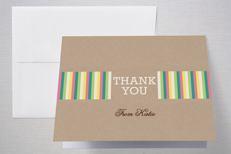 Girlie Cakes Childrens Birthday Party Thank You Cards