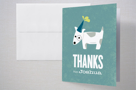 Spotted Puppy Childrens Birthday Party Thank You Cards