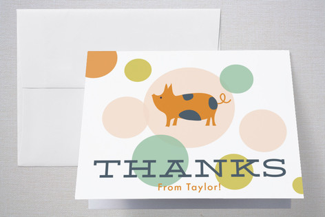 Farm Friends Childrens Birthday Party Thank You Cards