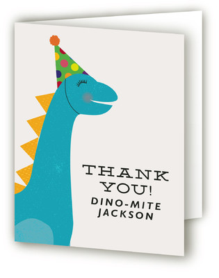 Dino-Mite Day Children's Birthday Party Thank You Cards
