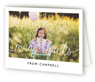 Let's Celebrate a Birthday Children's Birthday Party Thank You Cards