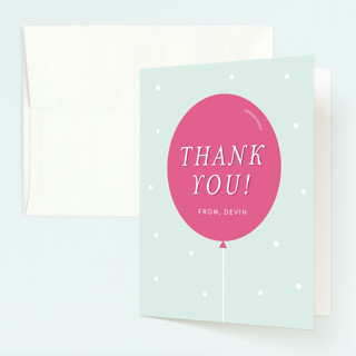 Pastel Balloon Childrens Birthday Party Thank You Cards