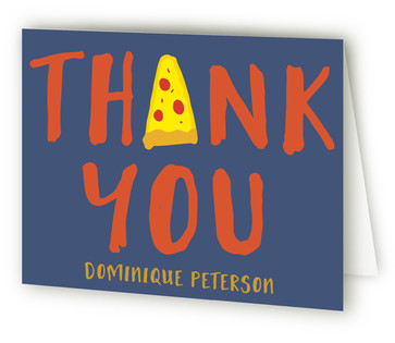 Pizza Party Children's Birthday Party Thank You Cards