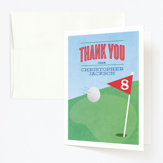 golf classic childrens birthday party thank you ca minted